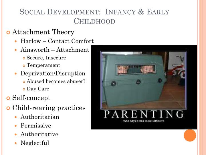 Social Development:  Infancy & Early Childhood