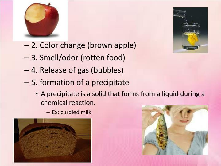 2. Color change (brown apple)