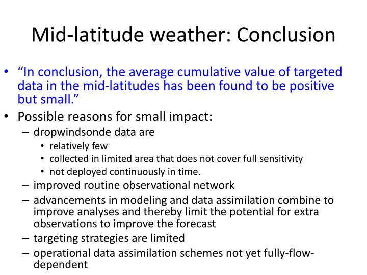 Mid-latitude weather: Conclusion