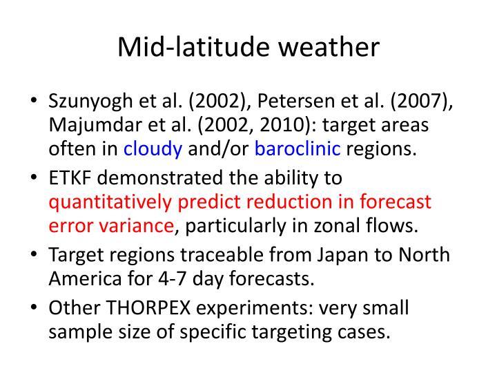 Mid-latitude weather