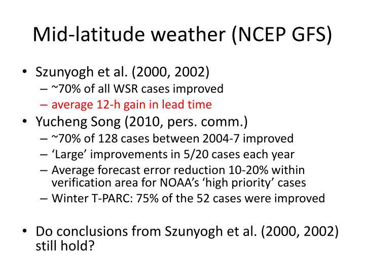 Mid-latitude weather (NCEP GFS)