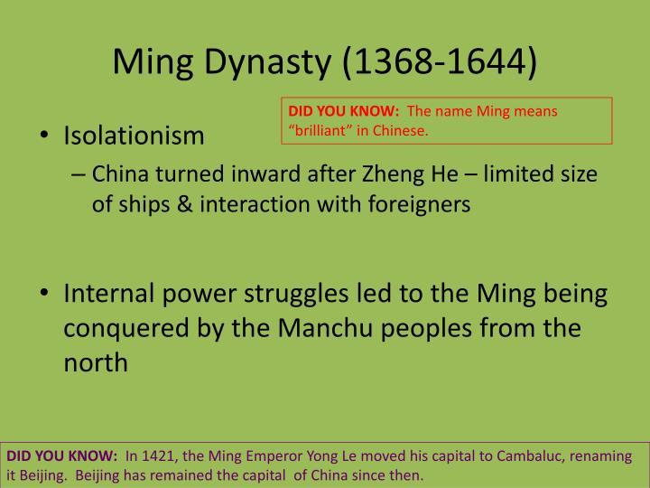 Ming Dynasty (1368-1644)