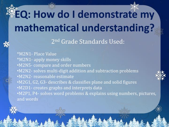 Eq how do i demonstrate my mathematical understanding