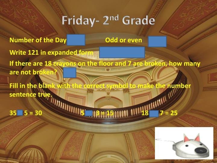 Friday- 2