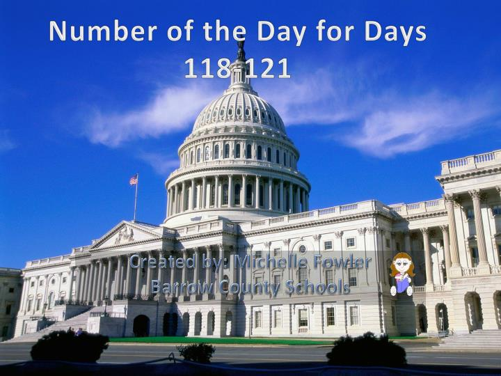 Number of the Day for Days 118-121