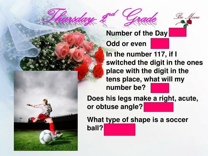 Thursday- 2
