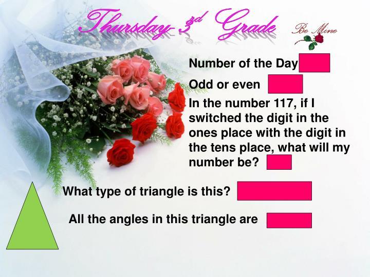 Thursday- 3