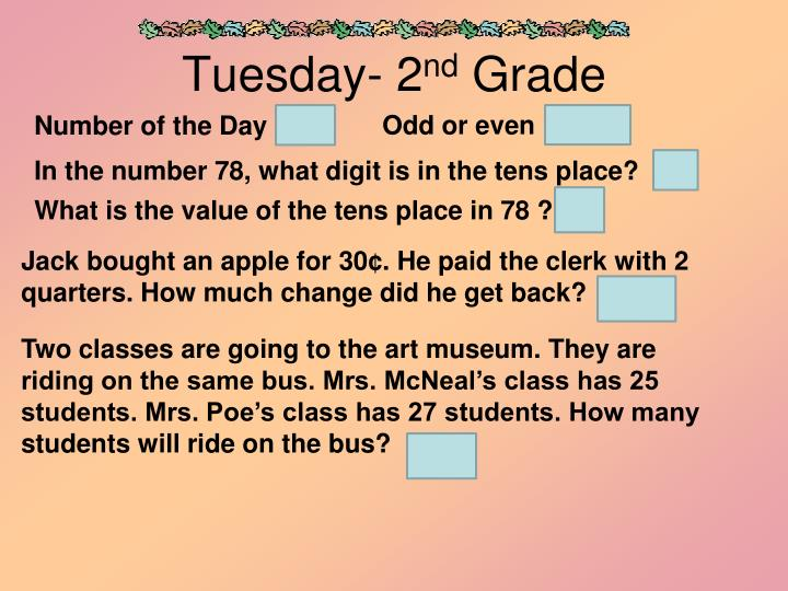 Tuesday- 2