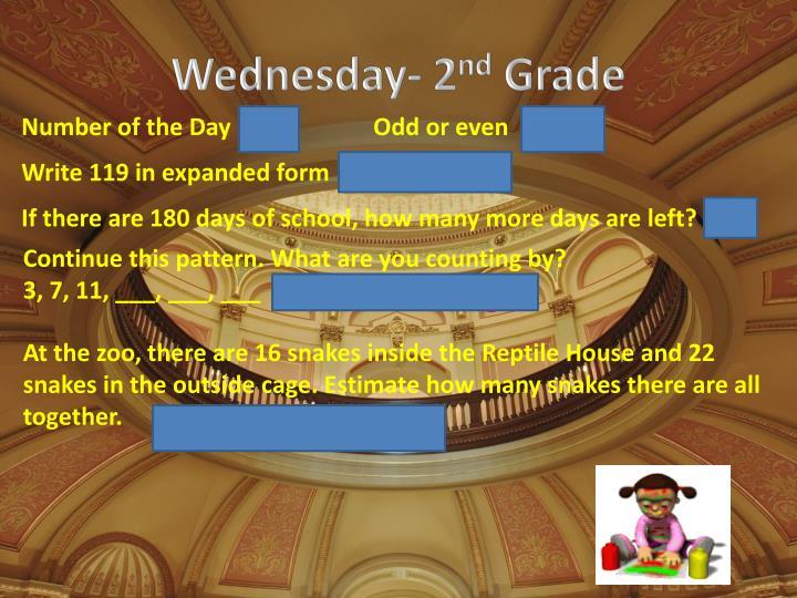 Wednesday- 2