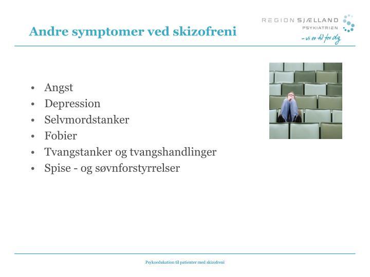 Andre symptomer ved skizofreni
