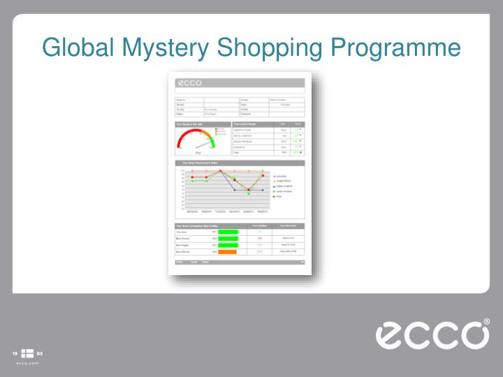 Global Mystery Shopping Programme