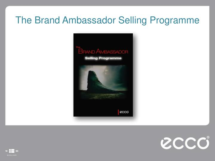 The Brand Ambassador Selling Programme