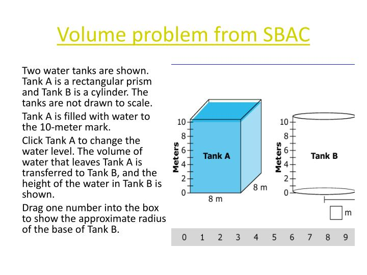 Volume problem from SBAC