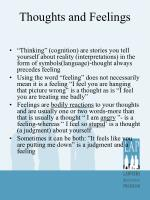 thoughts and feelings1