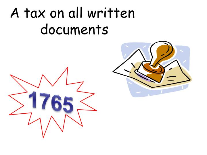 A tax on all written