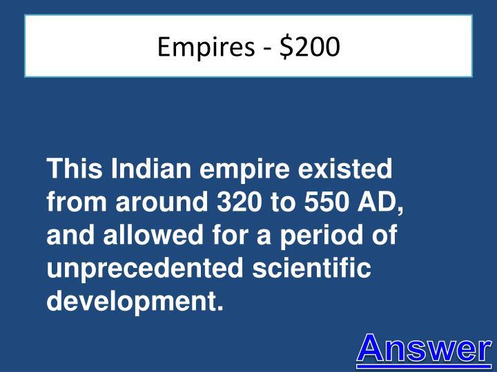 Empires - $200