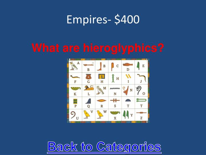 Empires- $400