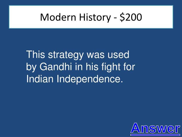 Modern History - $200