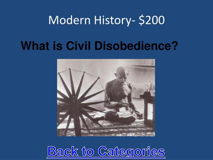 Modern History- $200