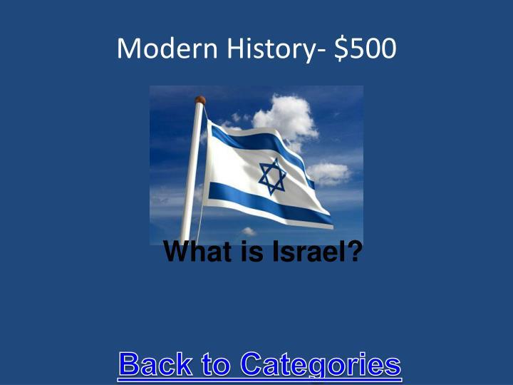 Modern History- $500