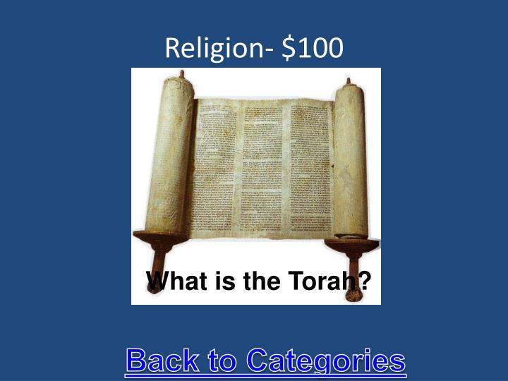 Religion- $100