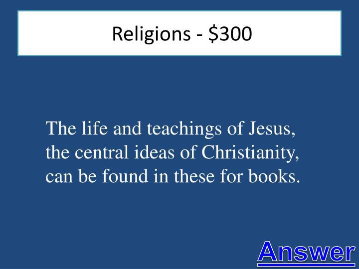 Religions - $300