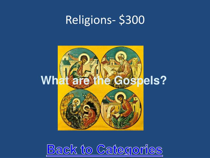 Religions- $300