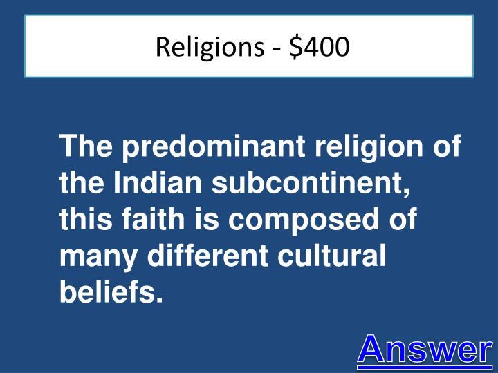 Religions - $400