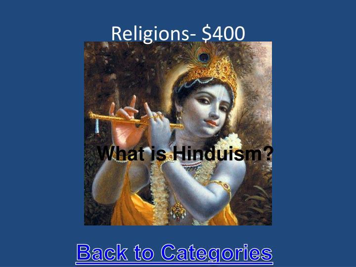 Religions- $400