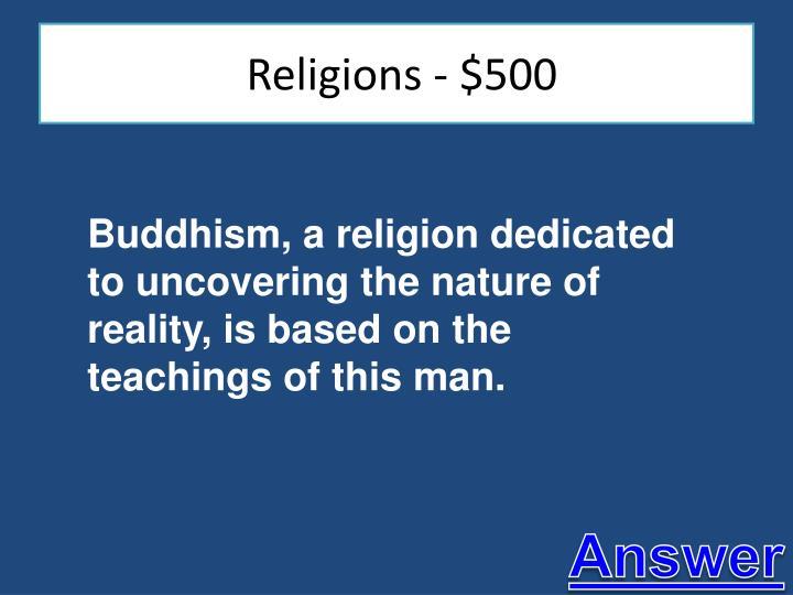 Religions - $500