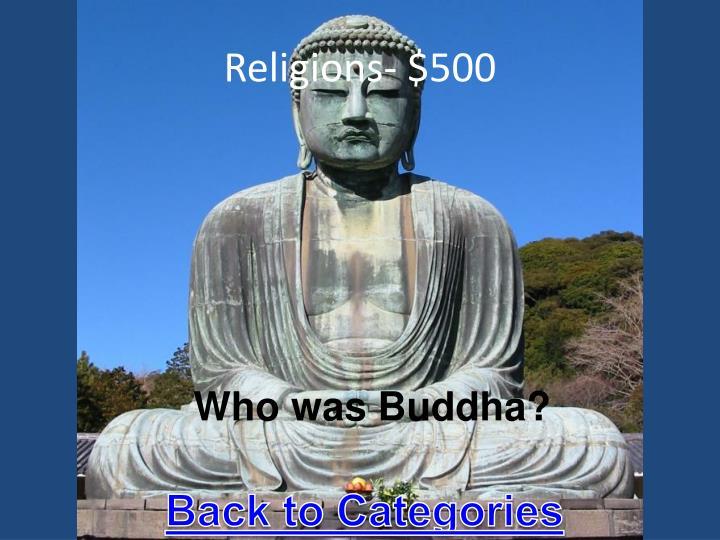 Religions- $500