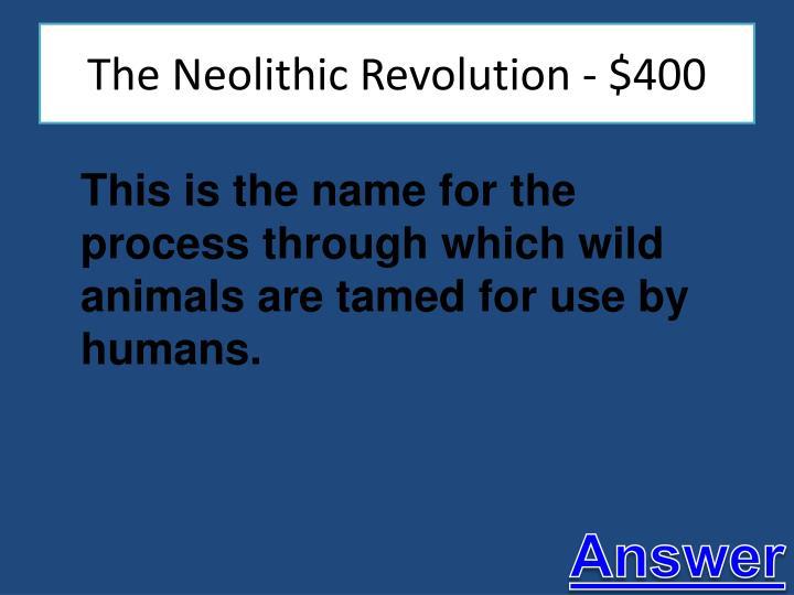 The Neolithic Revolution - $400