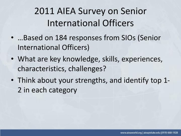 2011 AIEA Survey on Senior International Officers