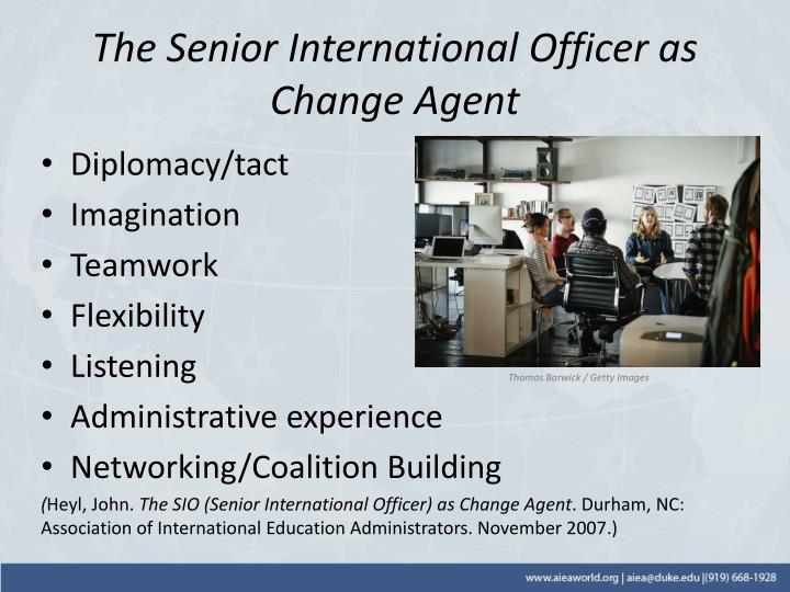 The Senior International Officer as Change Agent