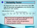 reliability factor