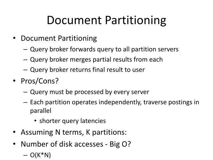 Document Partitioning
