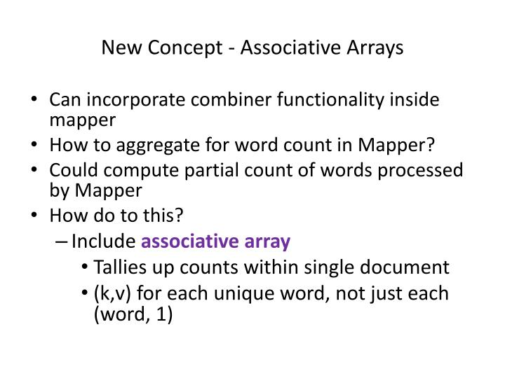 New Concept - Associative Arrays