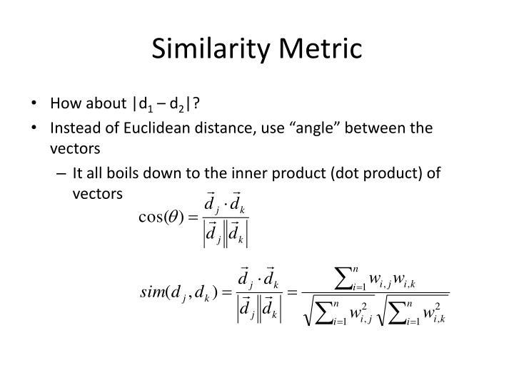 Similarity Metric