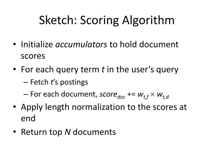 Sketch: Scoring Algorithm