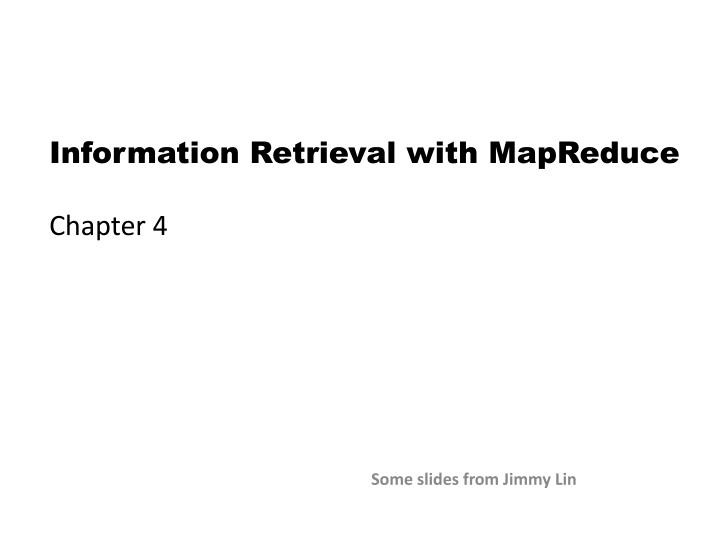 Information Retrieval with