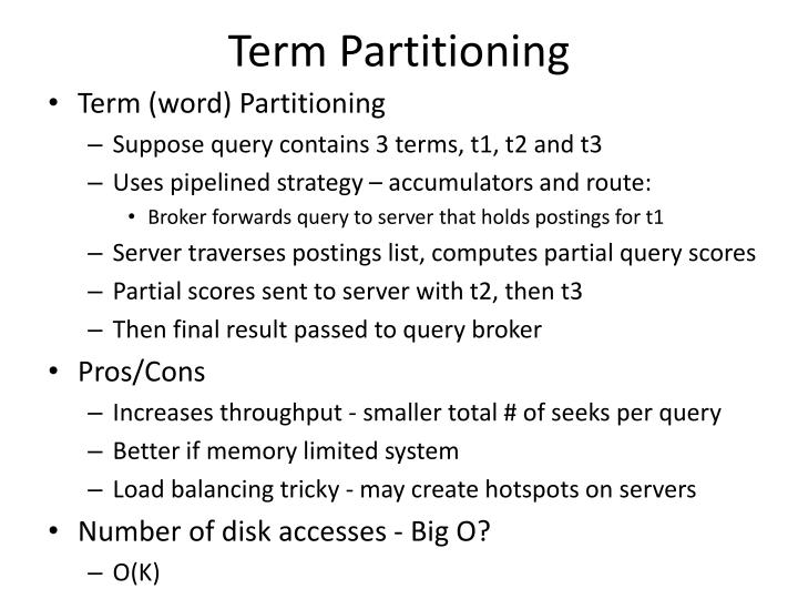 Term Partitioning