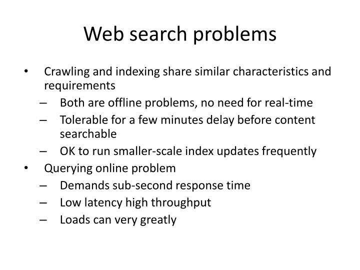 Web search problems