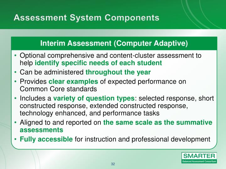 Interim Assessment (Computer Adaptive)