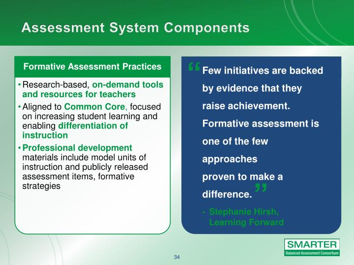 Few initiatives are backed by evidence that they raise achievement. Formative assessment is one of the few approaches