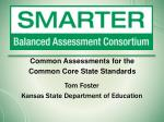 common assessments for the common core state standards