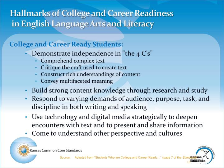 Hallmarks of College and Career Readiness