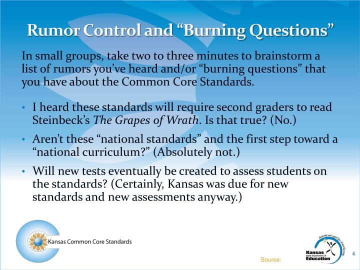 "Rumor Control and ""Burning Questions"""