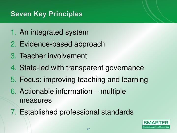 Seven Key Principles