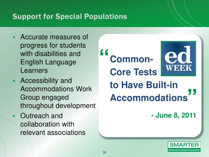 Support for Special Populations