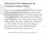 character development in grimms fairy tales